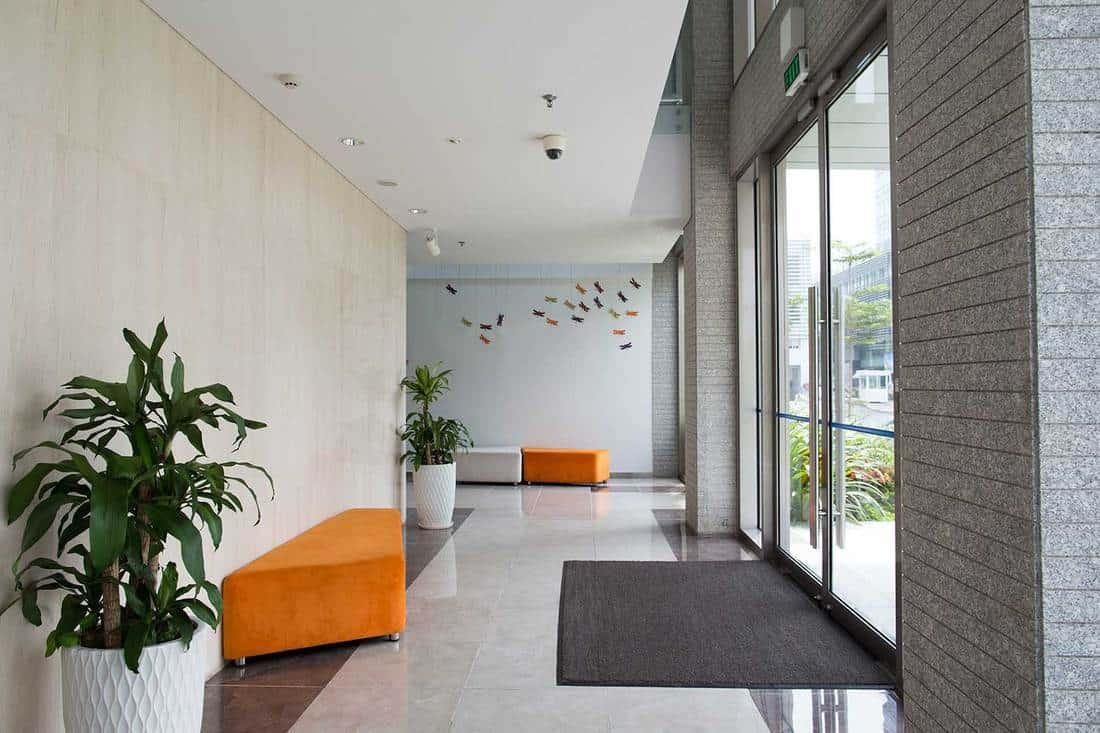 Condominium building entrance