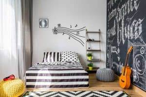 15 Music Themed Bedrooms [and How to Recreate the Look]