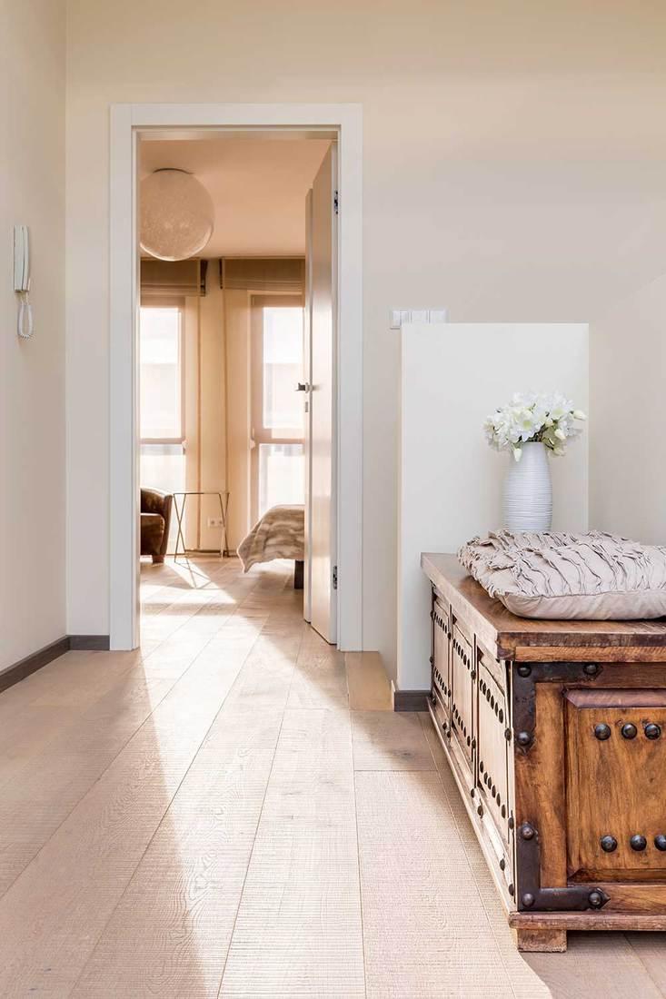 Elegant house hallway with commode