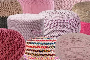 13 Pink Knitted and Woven Poufs That Are Simply Adorable