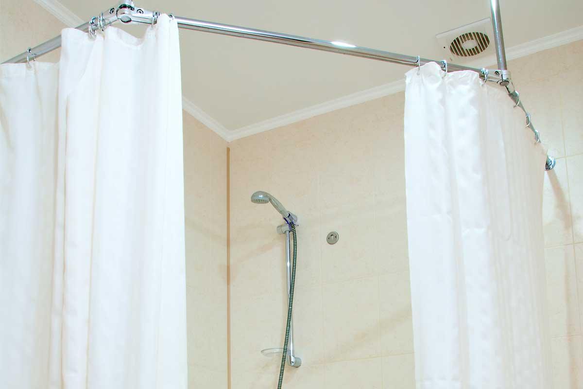 Bathroom curtain renovations