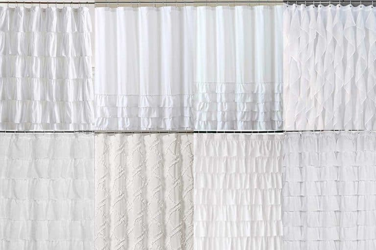 15 Gorgeous White Ruffle Shower Curtains For Your Bathroom