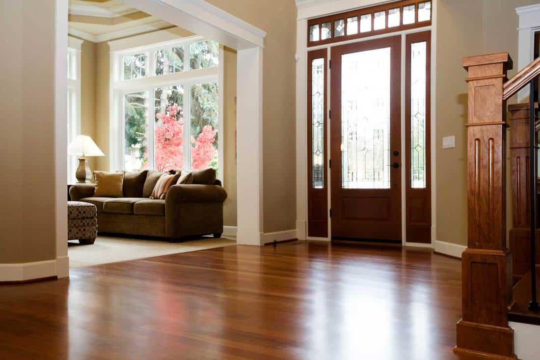 Interior architecture luxury foyer with beautiful hardwood floors