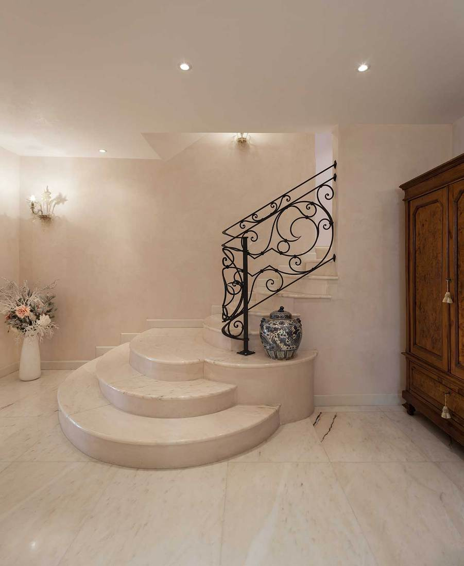 Luxury mansion staircase