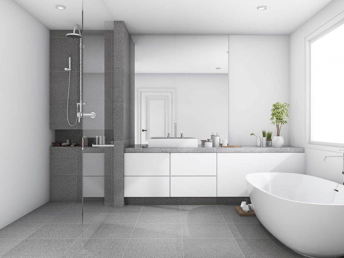 Luxury modern style wood bathroom
