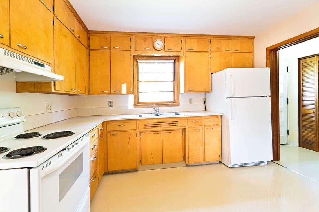 Modern bungalow real estate interior kitchen