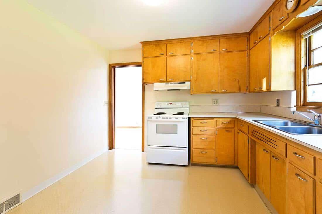 Modern bungalow real estate kitchen interior