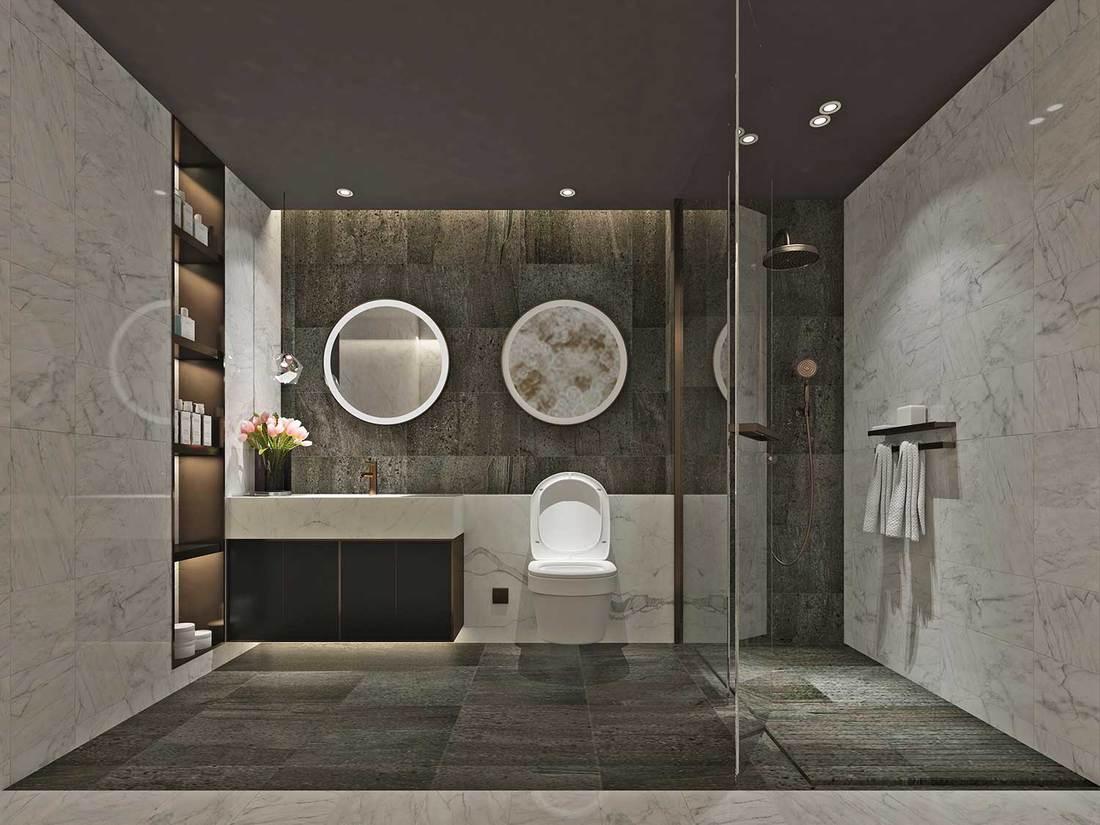 Modern condominium bathroom