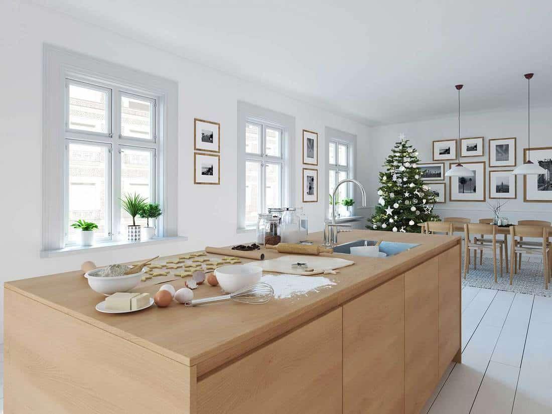 Modern nordic kitchen in loft apartment
