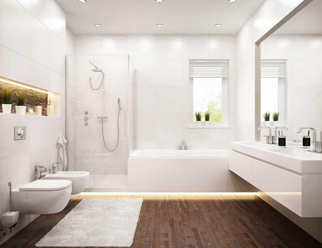 Modern white design bathroom