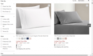 Bedsheets on pottery barn's page.