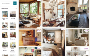 Wayfair Website page with rustic items