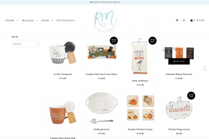 The Rustic Market website page with rustic items