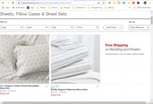 Bedsheets on crate and barrel's page.