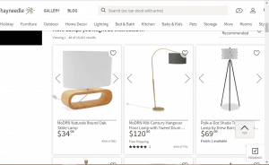 Hayneedle website product page for Lamps