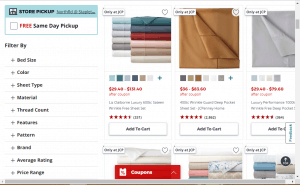 Bedsheets on JCpenny's page.