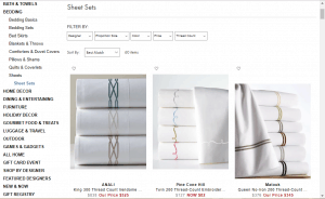 Bedsheets on neiman marcus's page.