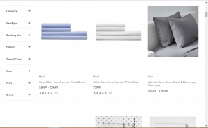 Bedsheets on nordstorm's page.