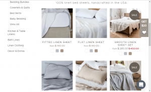 Bedsheets on Rough linen's page.