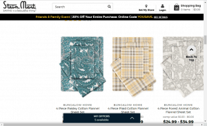 Bedsheets on stein mart's page.