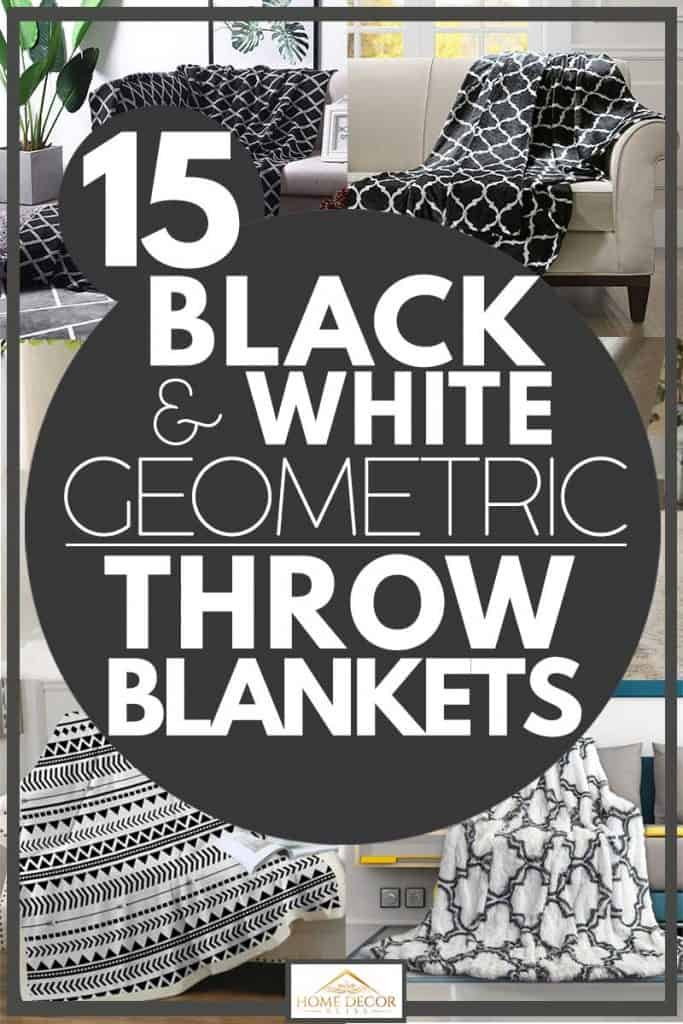 15 Black And White Geometric Throw Blankets Home Decor Bliss