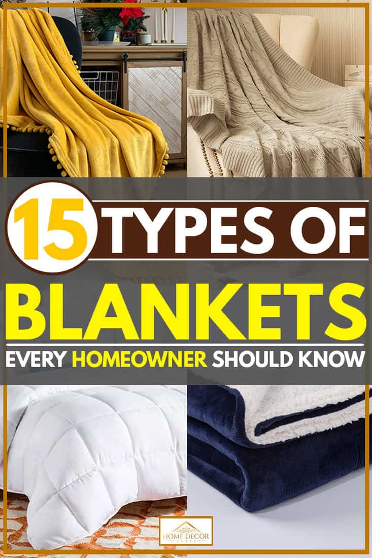 Blanket products collaged, 4 Types of Blankets Every Homeowner Should Know