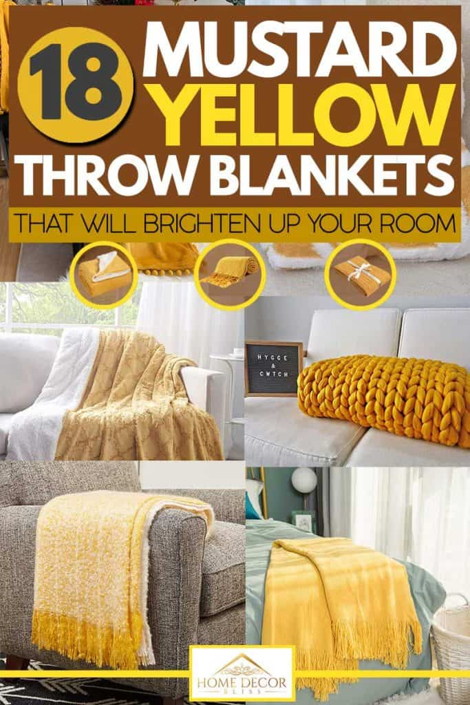 18 Mustard Yellow Throw Blankets That Will Brighten Up Your Room