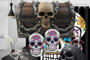 21 Skull-Themed Bathroom Accessories That Will Spook Out Your Guests