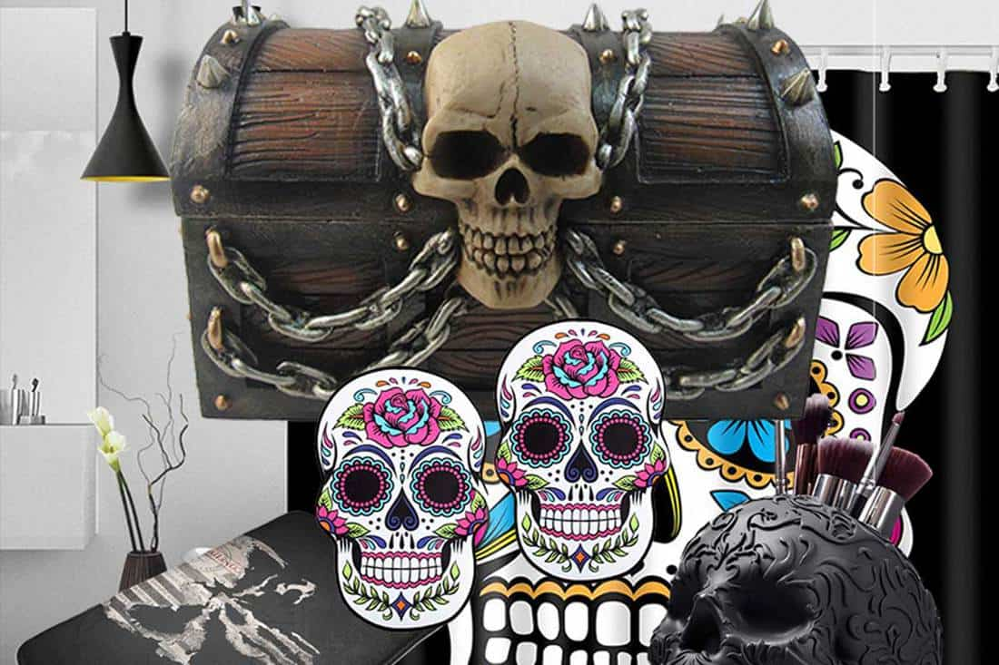 21 Skull Themed Bathroom Accessories