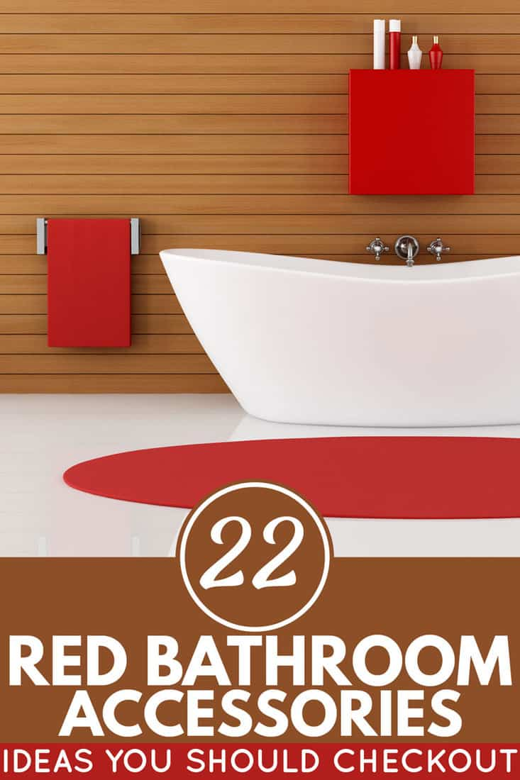 22 Red Bathroom Accessories Ideas You