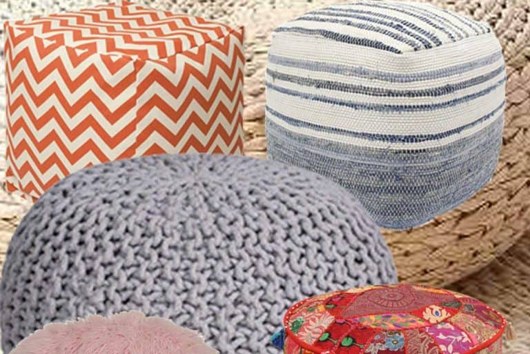 8 Types of Living Room Poufs That You Should Know