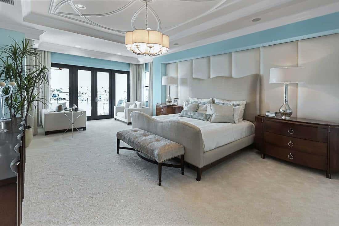 Beautiful cozy master bedroom interior