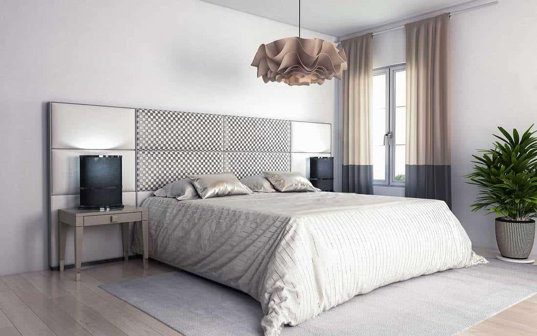 Classy modern minimalist hotel bedroom