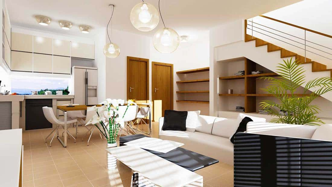 Concept of modern living room home interior