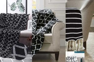 15 Black and White Geometric Throw Blankets
