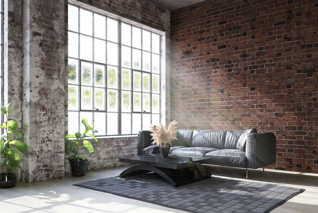 Loft living room in industrial style