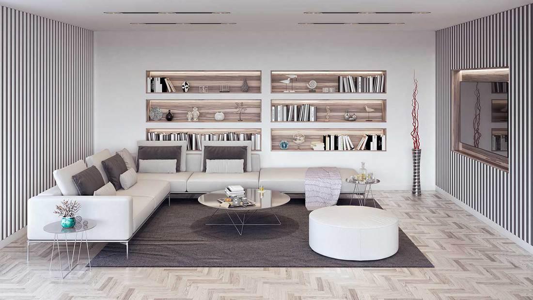 Modern elegant living room with classy interior