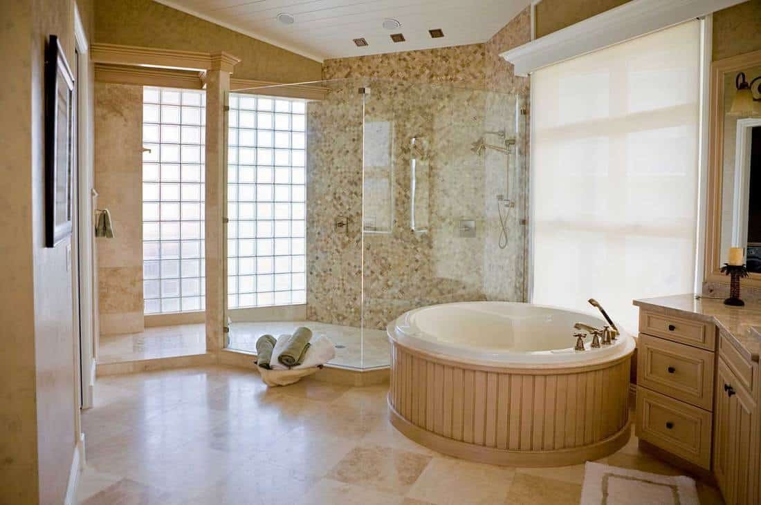 Modern hotel resort bathroom