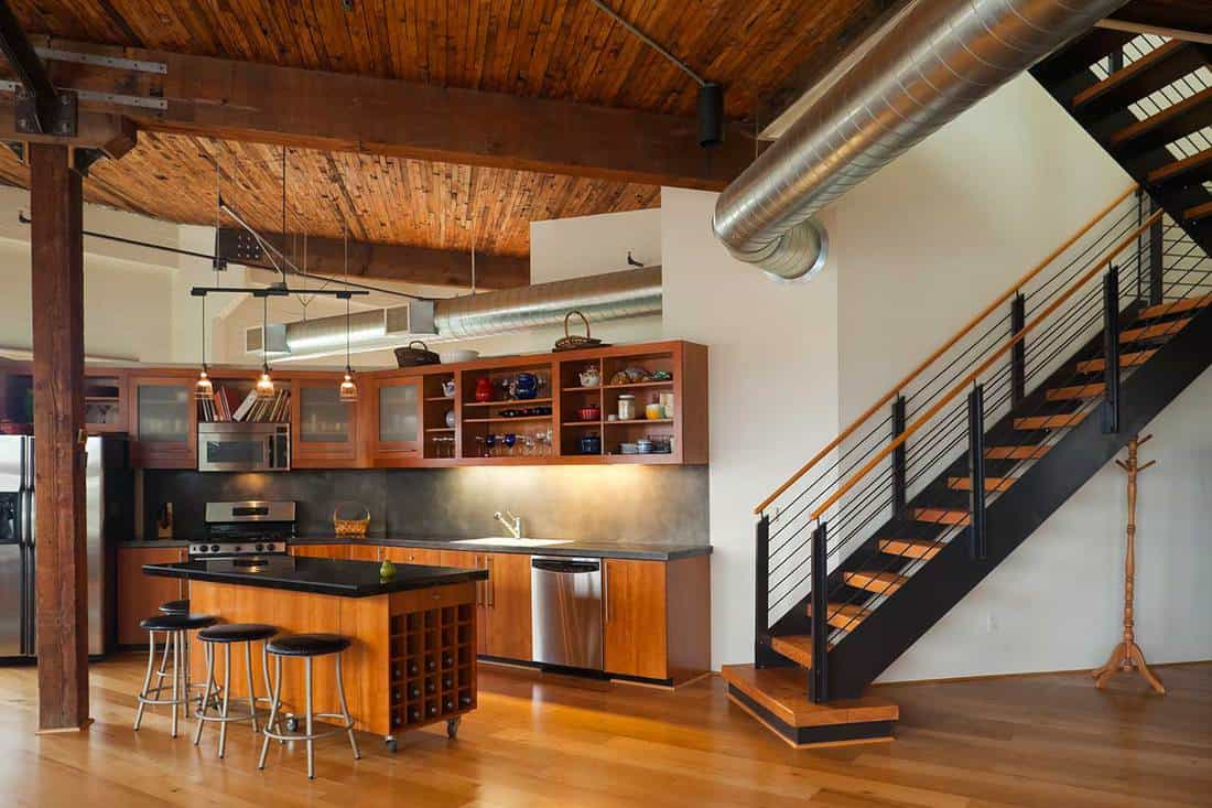 Modern loft kitchen in a industrial style home