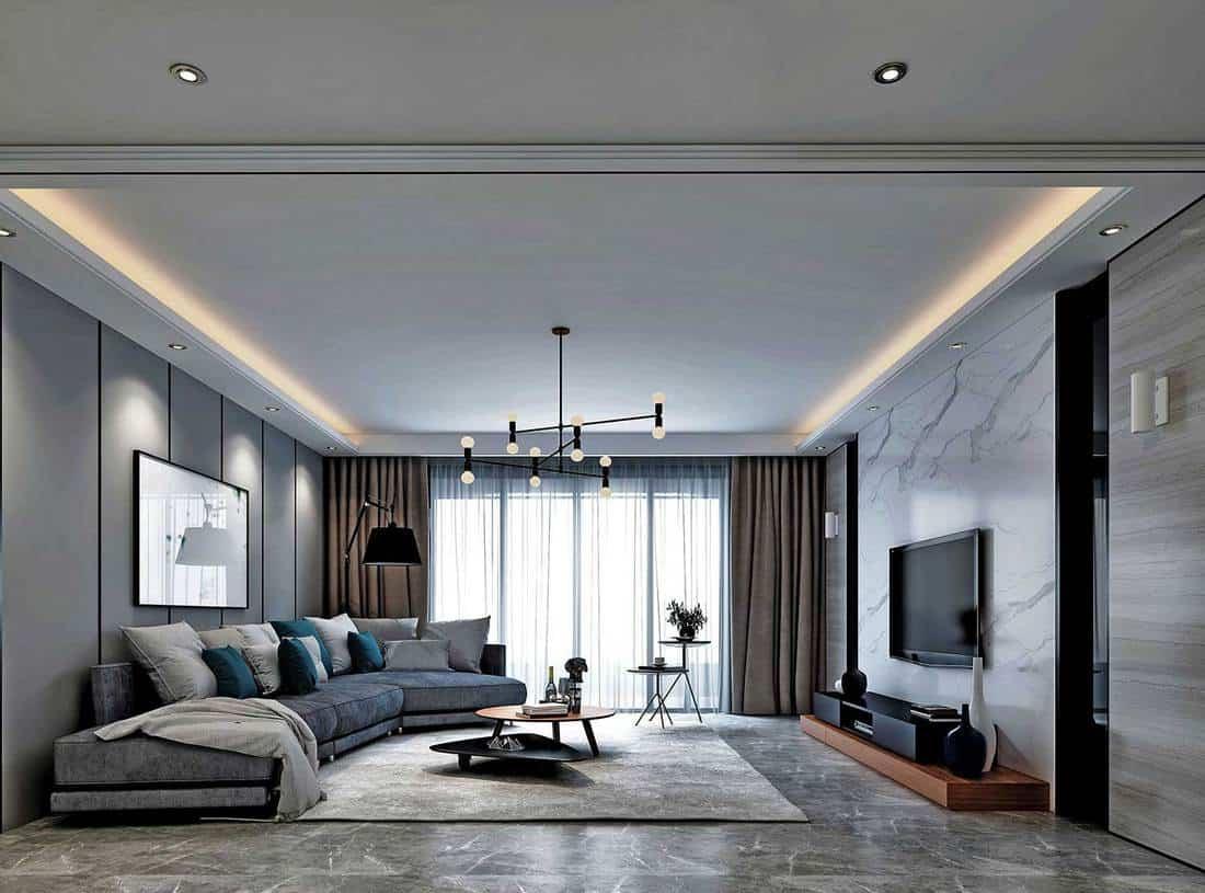 Modern minimalist living room with classy interior design