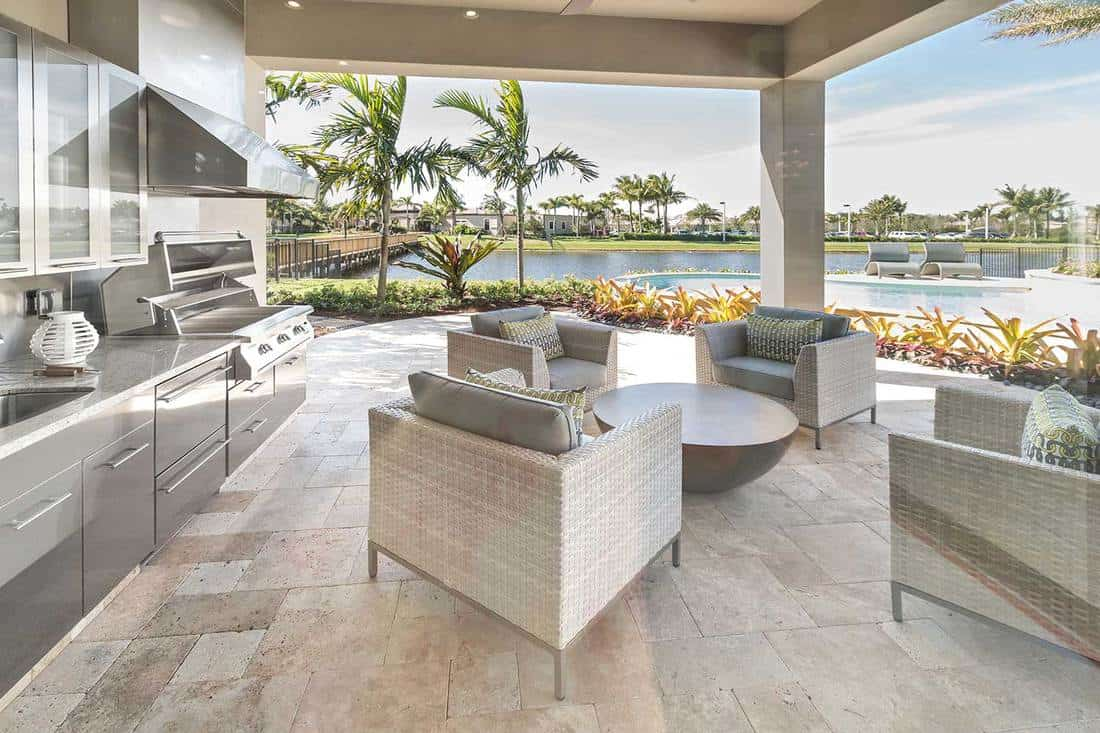 Outdoor patio kitchen luxury exterior