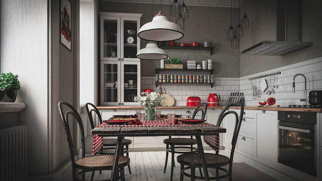 Scandinavian domestic kitchen interior