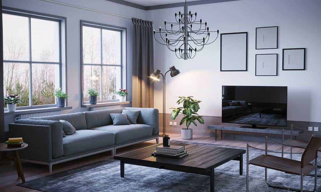 Scandinavian style living room interior