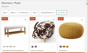 Poufs and Ottomans on All modern's page.