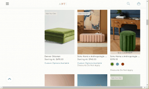 Poufs and Ottomans on Anthropologie's page.