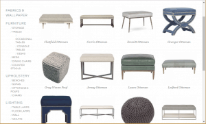 Poufs and Ottomans on Anne Pappas Interior's page.