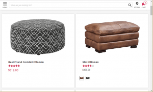 Poufs and Ottomans on Art van home's page.