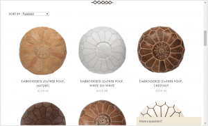 Poufs and Ottomans on casablanca market's page.