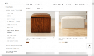 Poufs and Ottomans on cb2's page.