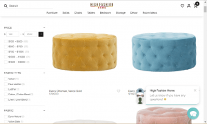 Poufs and Ottomans on High fashion home's page.